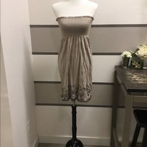 Forever 21 ruched strapless dress